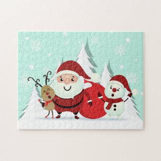 Kerstman, het raadsel van Kerstmis van het Rendier Puzzel