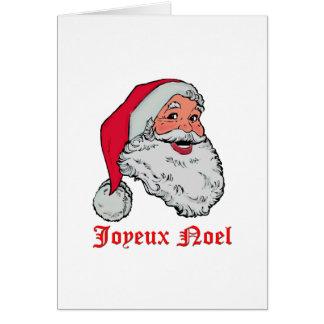 Kerstman Joyeux Noel Wenskaart