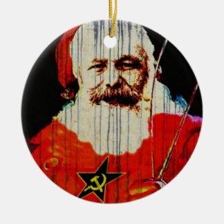 Kerstman Karl Rond Keramisch Ornament