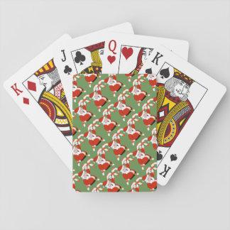 Kerstman met de Speelkaarten van Kerstmis van het