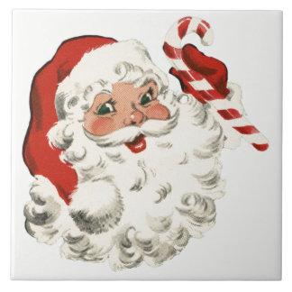 Kerstman met het Riet van het Snoep Tegeltje