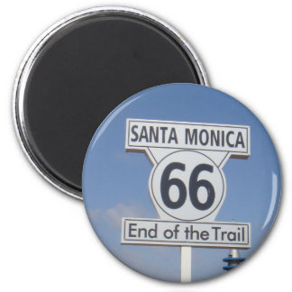 Kerstman Monica, Californië - rechts 66 Koelkast Magneten