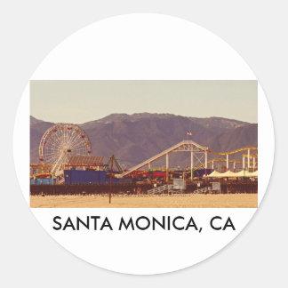 Kerstman Monica Pier - het Blad van de Sticker