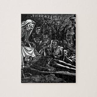 Kerstman Muerte en de Militair c. 1951 Mexico Legpuzzel