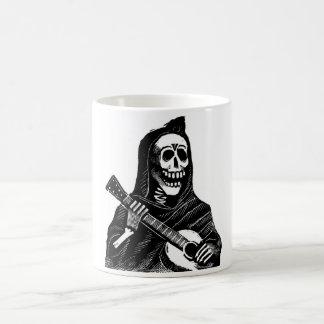 Kerstman Muerte met circa van de Gitaar de vroege Koffiemok