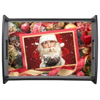 Kerstman of UW van de douaneKerstmis van de FOTO Dienblad