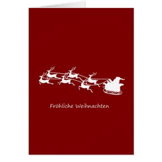 Kerstman op Ar Fröhliche Weihnachten Briefkaarten 0