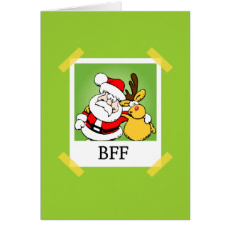 Kerstman & Rendier BFF Kaart