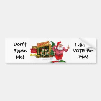 Kerstman w/Elves voor Huur/Politieke Grap Bumpersticker