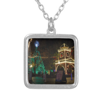 Kerstmis bij de Zilveren Stad van de Dollar Zilver Vergulden Ketting