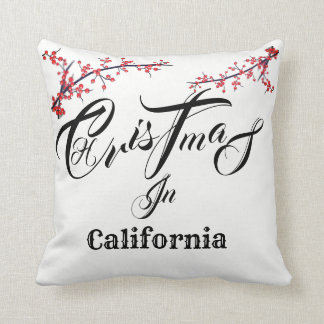 Kerstmis binnen (voeg Uw Staat of Stad toe) - Sierkussen