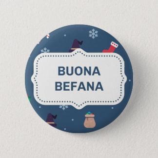 Kerstmis buona Befana Ronde Button 5,7 Cm