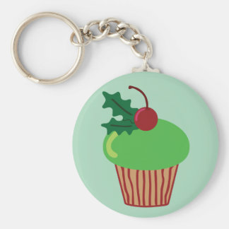 Kerstmis Cupcake Sleutelhangers