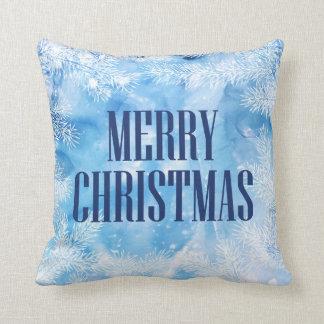 Kerstmis de | Blauwe Winter van de Sneeuw & van Sierkussen