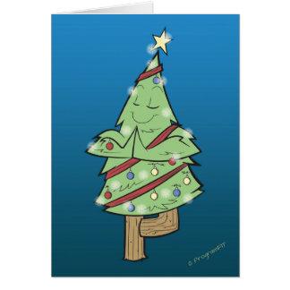 Kerstmis - de Boom van de Yoga stelt Briefkaarten 0