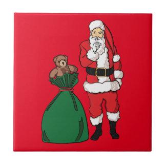 Kerstmis de Kerstman Keramisch Tegeltje