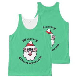 Kerstmis de Kerstman, Vrolijke Kerstmis All-Over-Print Tank Top