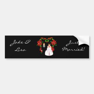 Kerstmis/December huwde enkel II Sticker van de Bu Bumperstickers