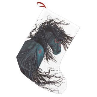Kerstmis die Majestueus Friesin Paard Bihrle Kleine Kerstsok