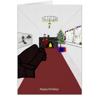 Kerstmis door de brand kaart