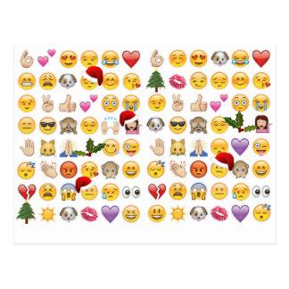 Kerstmis emojis briefkaart
