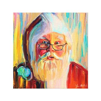 Kerstmis en het Nieuwjaar van de kerstman Canvas Print