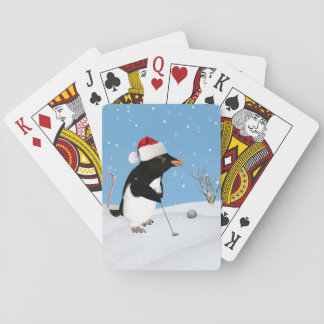 Kerstmis, het SpeelGolf van de Pinguïn Pokerkaarten