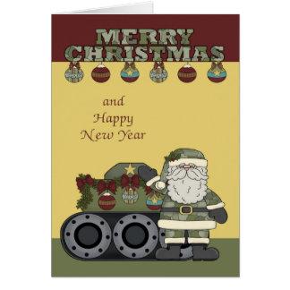 Kerstmis, het Wenskaart van het Leger