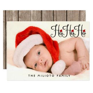 """Kerstmis HO """"HO HO"""" Één Kaart van de Foto"""