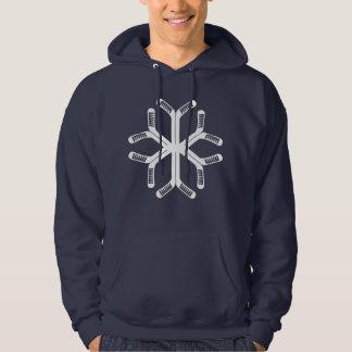 Kerstmis Hoodie van de Sneeuwvlok van de Stokken