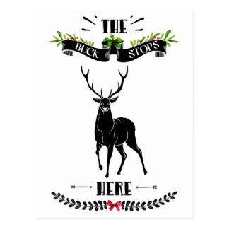 Kerstmis houdt de Bok hier Herten tegen Briefkaart