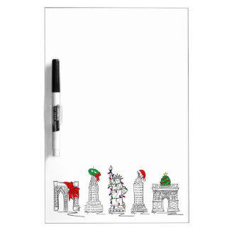 Kerstmis in de Oriëntatiepunten van de Vakantie Whiteboards