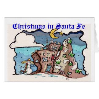 Kerstmis in Fe van de Kerstman Briefkaarten 0