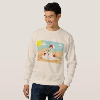 Kerstmis in juli sneeuwman mannen sweatshirt