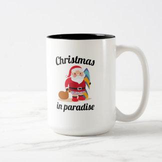 Kerstmis in Paradijs Tweekleurige Koffiemok