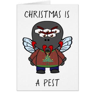 Kerstmis is een Huisvlieg van het Ongedierte Kaart