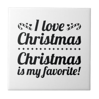 Kerstmis is Mijn Favoriet Tegeltje Vierkant Small