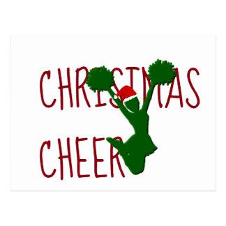 Kerstmis juicht de Geest van de Vakantie toe Briefkaart
