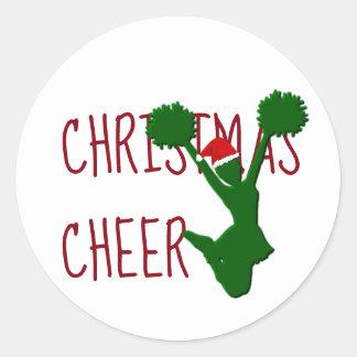 Kerstmis juicht de Geest van de Vakantie toe Ronde Sticker
