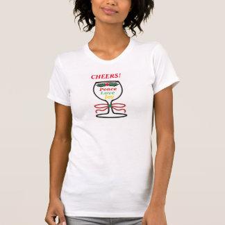 Kerstmis juicht, de T-shirt van Vrouwen toe