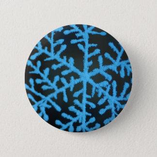 Kerstmis juicht decoratiesneeuwvlok toe ronde button 5,7 cm