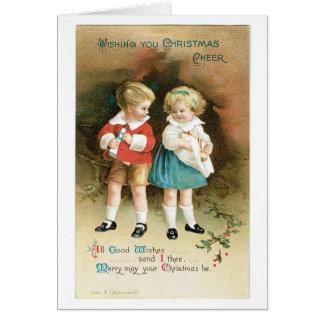 Kerstmis juicht Kinderen toe Kaart
