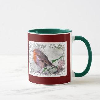 Kerstmis juicht Robin Redbreast toe Mok