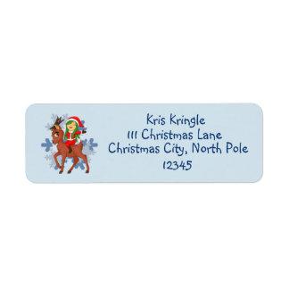 Kerstmis juicht toe etiket