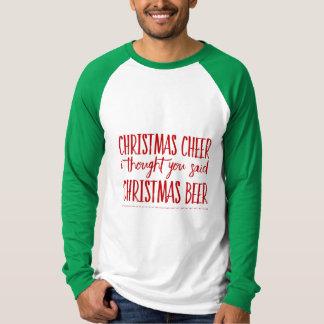 Kerstmis juicht toe t shirt