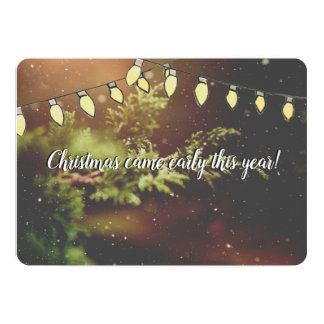 Kerstmis kwam Vroege het Denken Kerstkaart Kaart