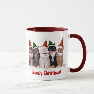 """""""Kerstmis Meowy!"""" Katten in Petten Mok"""