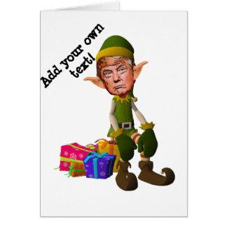 Kerstmis met de kwelgeest Trump Kaart