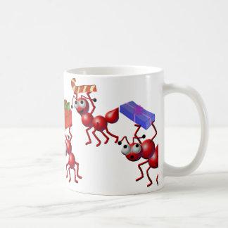 Kerstmis mieren koffiemok