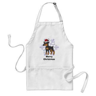 Kerstmis MiniatuurPinscher/Manchester Terrier Standaard Schort